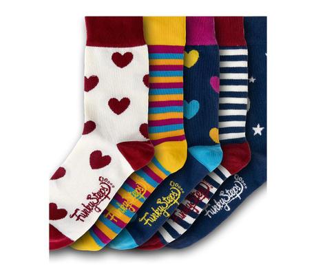 Zestaw 5 par skarpetek damskich Stripes Mix 35-39
