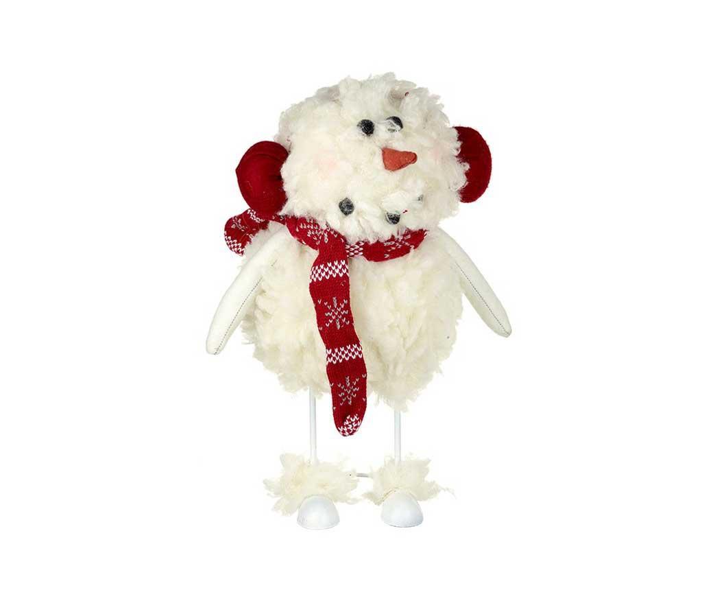 Dekorace Fluffy Snowman