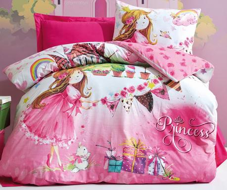 Princess  Pink Egyszemélyes Ranforce Ágynemű