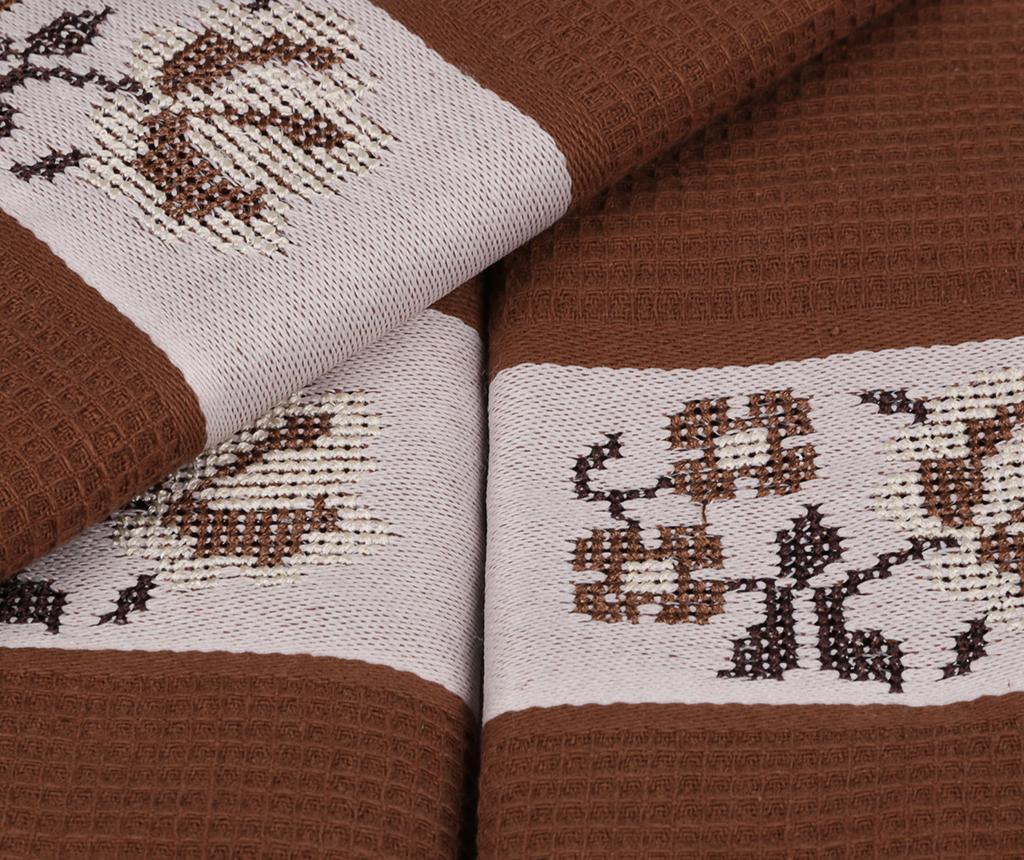 Set 6 kupaonskih ručnika Pecetelik  Brown 45x70 cm
