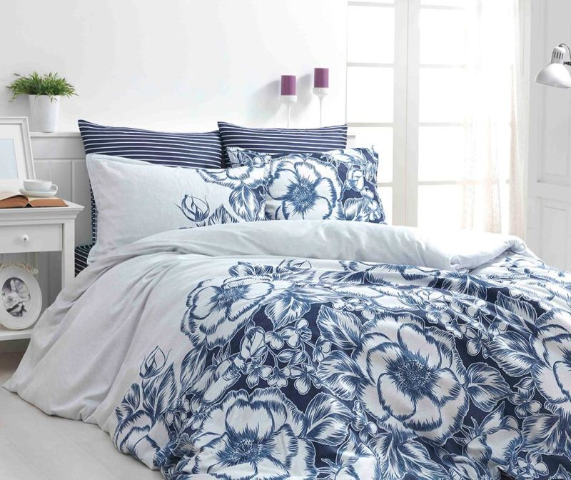 Спално бельо King Satin Supreme Marjorie Blue