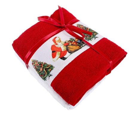 Zestaw 2 ręczników kąpielowych Surprise Red 50x90 cm