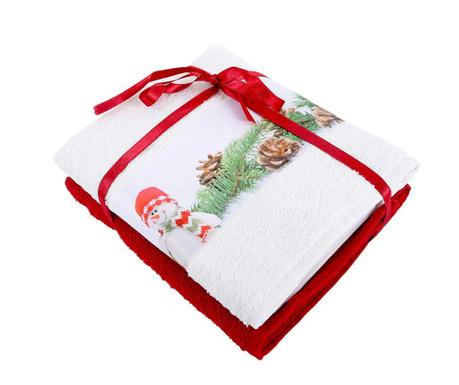 Set 2 kupaonska ručnika Snowman 50x90 cm