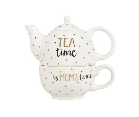 Set - čajnik s skodelico Mum Time