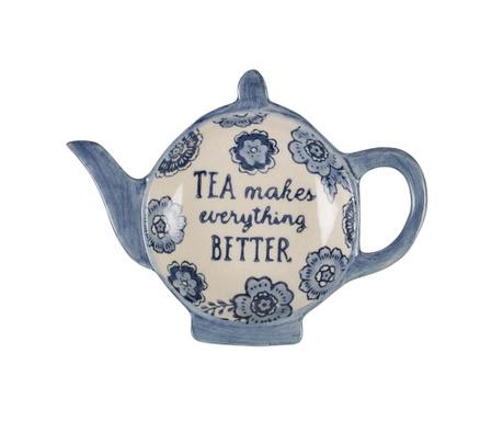 Podstavek za čajne vrečke Blue Floral