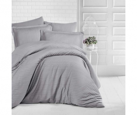 Posteljnina King Sateen Supreme Simple Gray