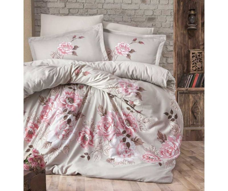 Posteljnina King Sateen Supreme Rosemary Beige