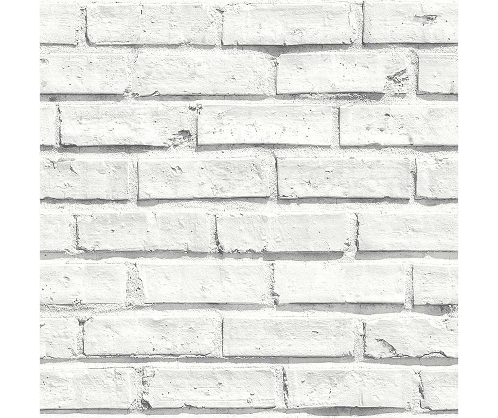 City Brick White Tapéta 53x1005 cm