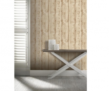 Tapeta Washed Wood Neutral 53x1005 cm
