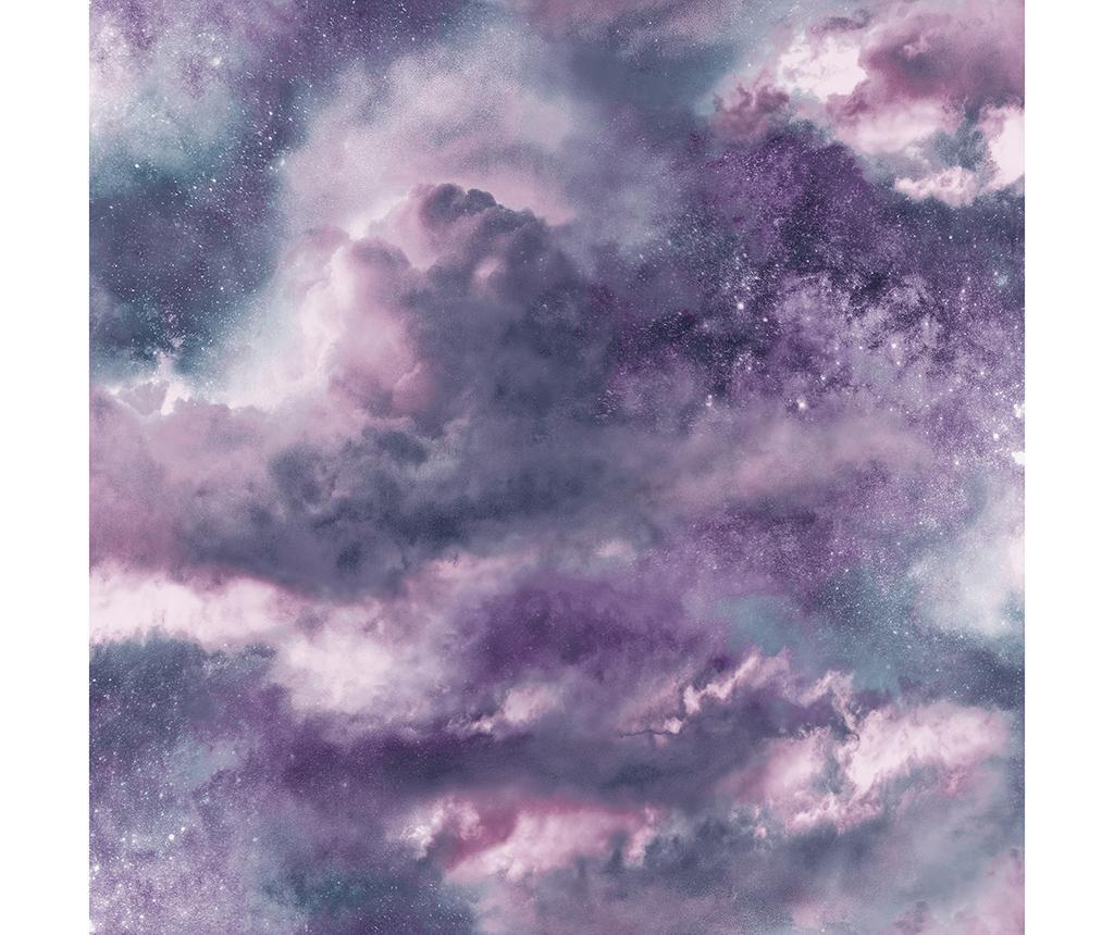 Tapeta Diamond Galaxy Purple 53x1005 cm