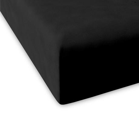 Долен чаршаф с ластик Casual Black 200x200 см