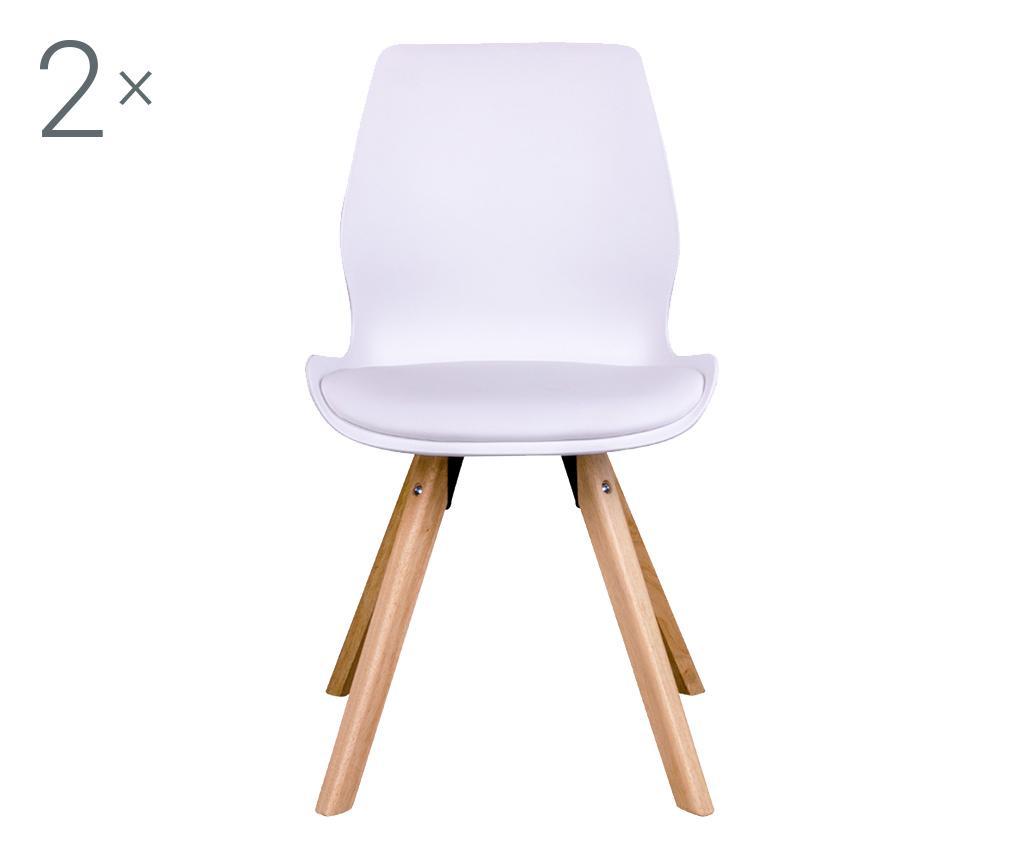 Set 2 stolov Ranna White Natural