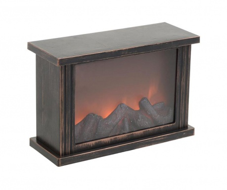 Svetlobna dekoracija Fireplace Black & Gold