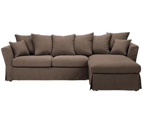 Разтегателен десен ъглов диван Helene Brown