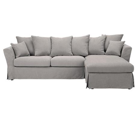 Разтегателен десен ъглов диван Helene Light Grey