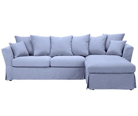 Разтегателен десен ъглов диван Helene Blue