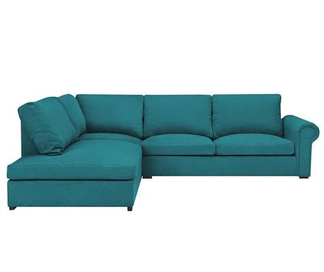 Ляв ъглов диван Antoine Turquoise