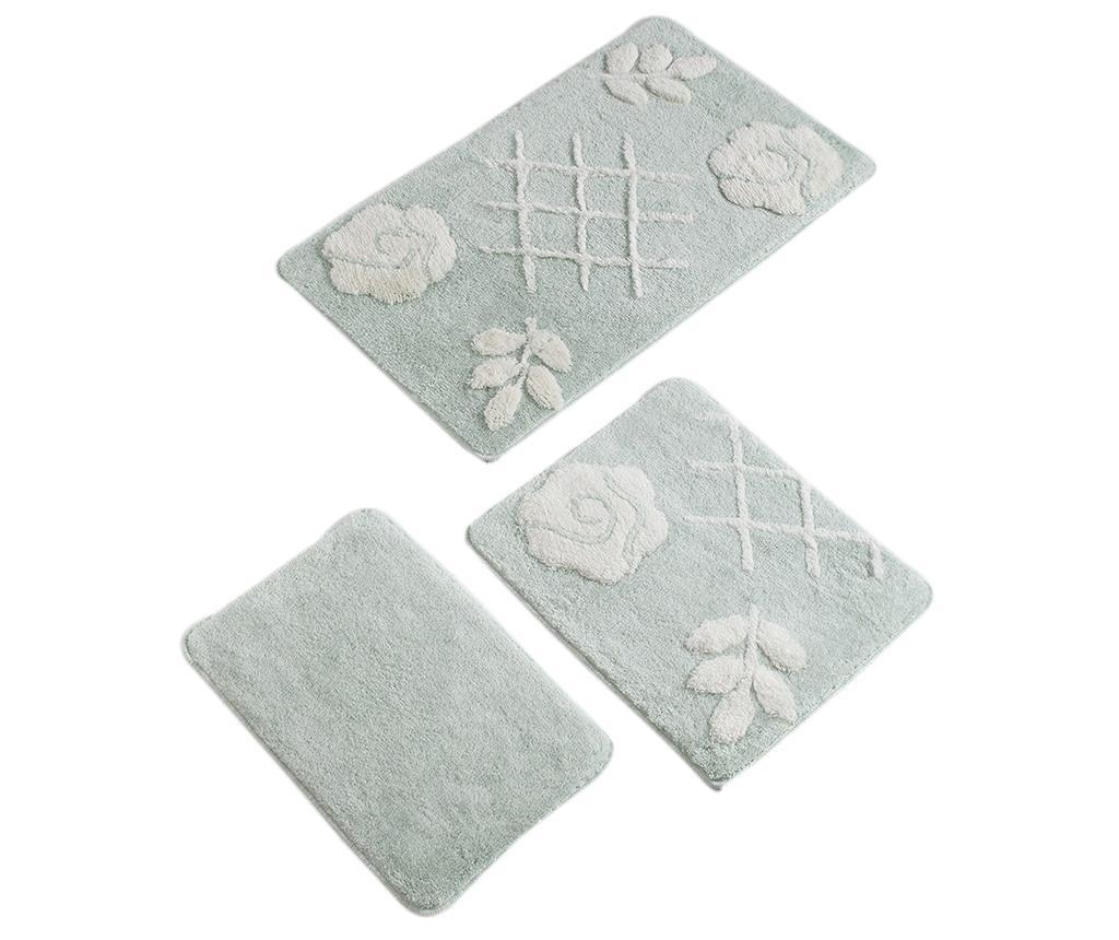 Pastel Mint 3 db Fürdőszobai szőnyeg