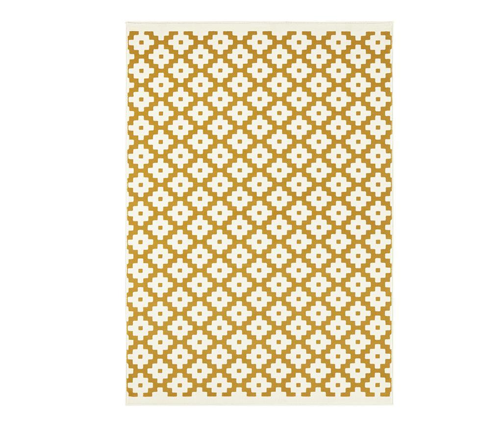 Covor Lattice Gold Cream 120x170 cm
