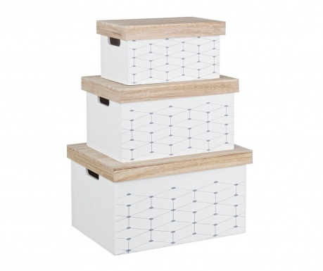 Set 3 kutije s poklopcem Alveare
