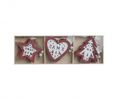 Set 9 decoratiuni suspendabile Xmas