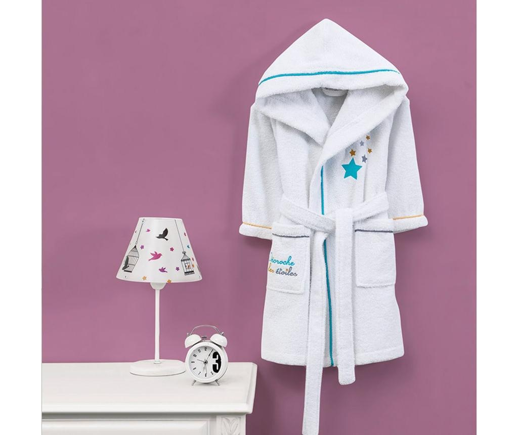 Halat de baie copii Marie Claire Hooded Star White 3-4 ani