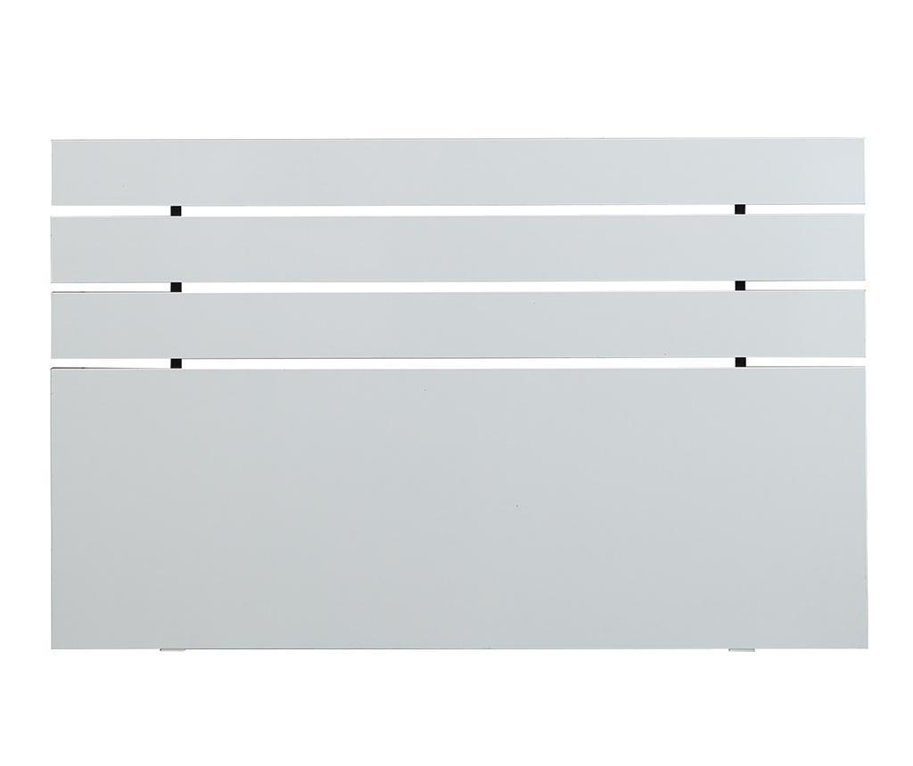 Tablie de pat Fuga Shiny White 100x160 cm