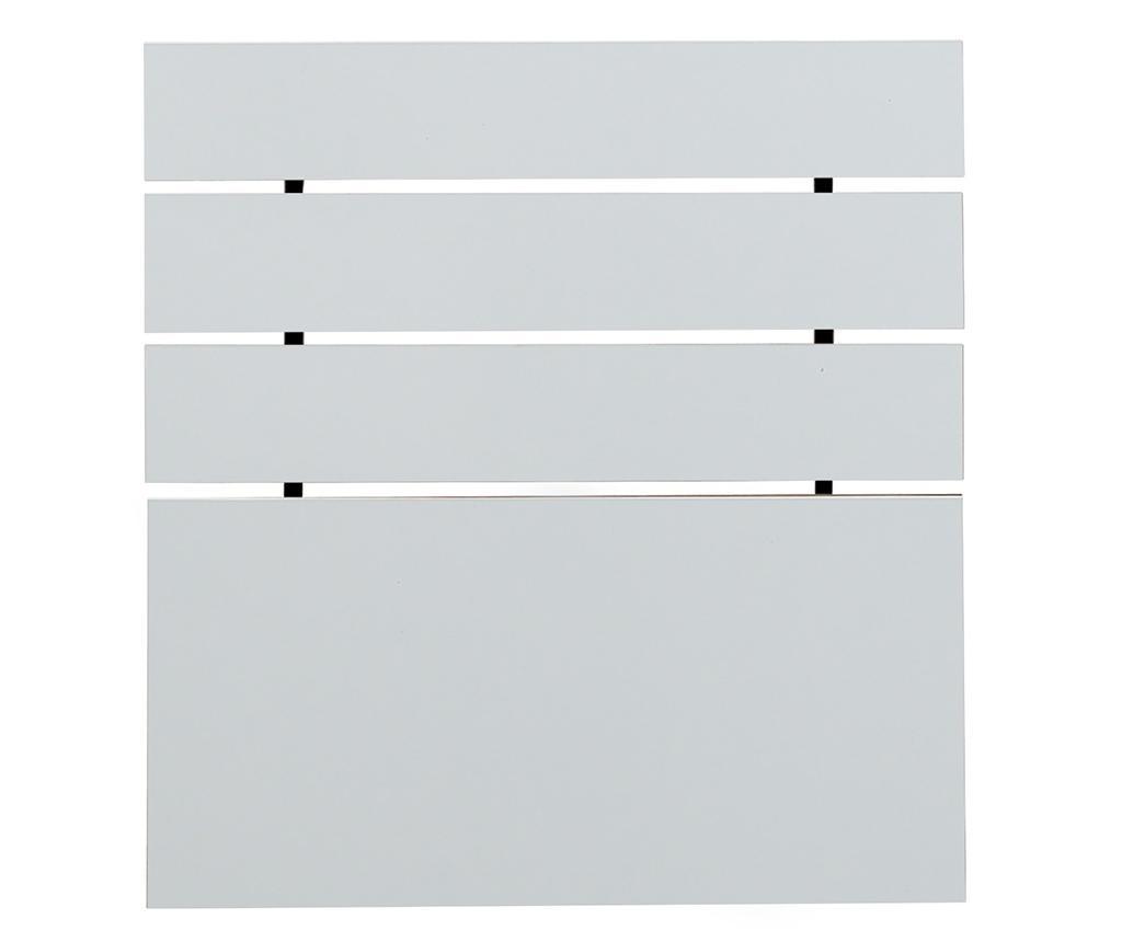 Tablie de pat Fuga Shiny White 100x120 cm