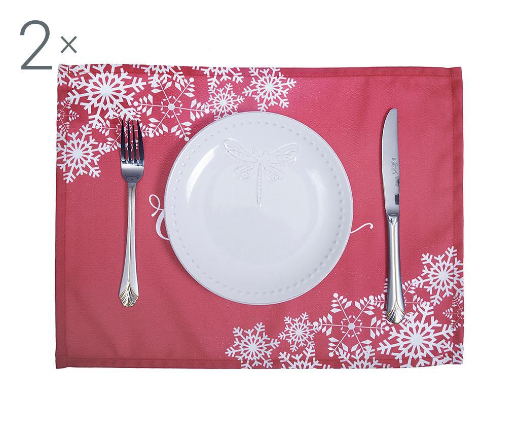 Merry Christmas Red 2 db Tányéralátét 33x45 cm