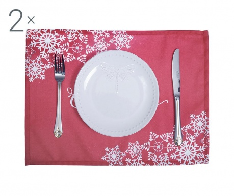 Set 2 individualuri Merry Christmas Red 33x45 cm