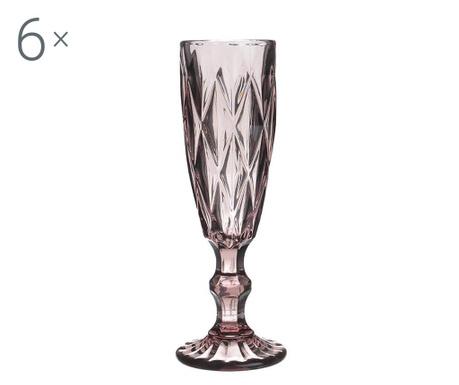 Сервиз 6 чаши за шампанско Lux 165 мл