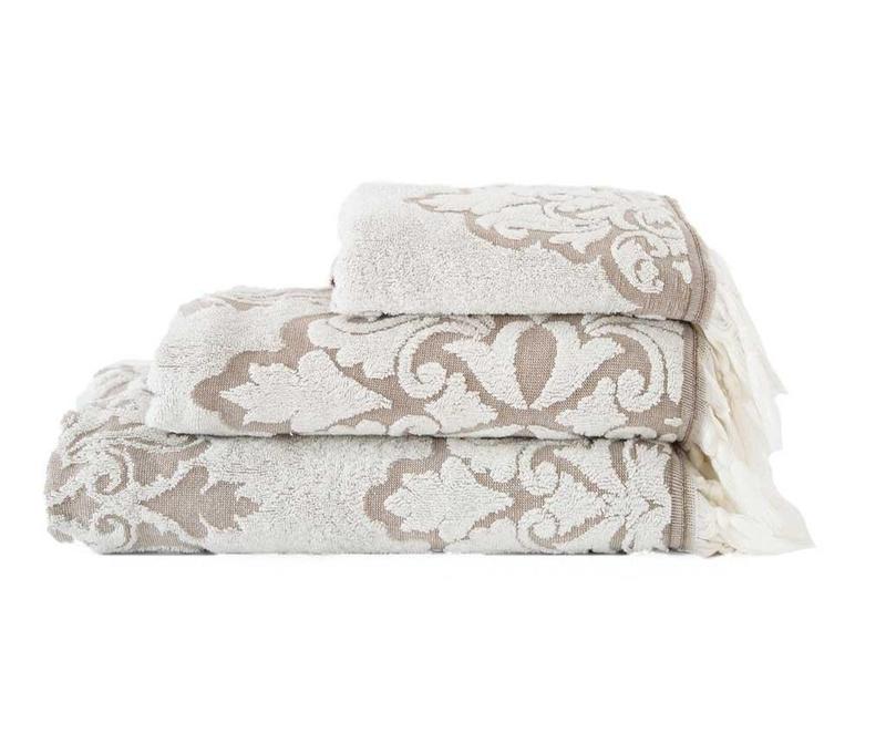 Kopalniška brisača Vintage White 70x130 cm