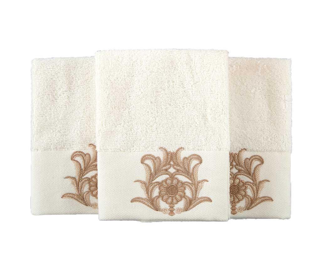 Set 3 kupaonska ručnika Calisto Cream 30x50 cm