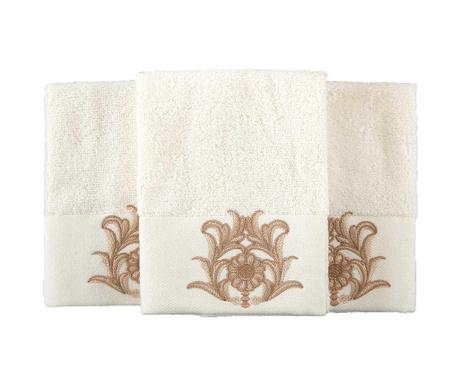 Sada 3 ručníků Calisto Cream 30x50 cm