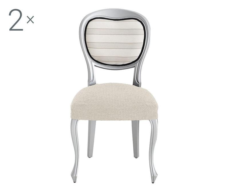 Комплект 2 еластични калъфа за стол Dorian Ecru Backless