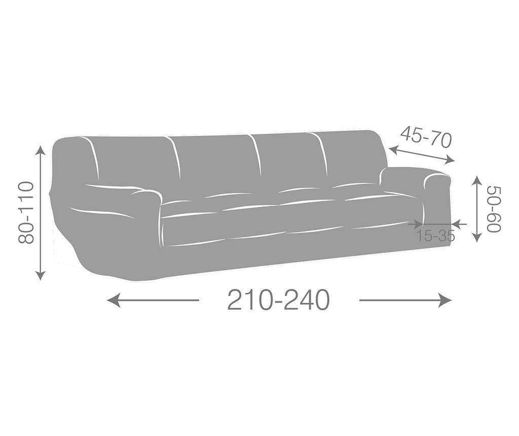 Husa elastica pentru canapea Ulises Brown 210-240 cm