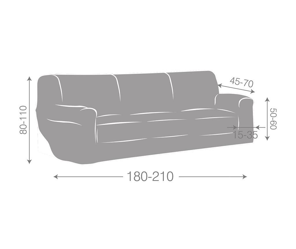Husa elastica pentru canapea Dorian Ecru 180-210 cm