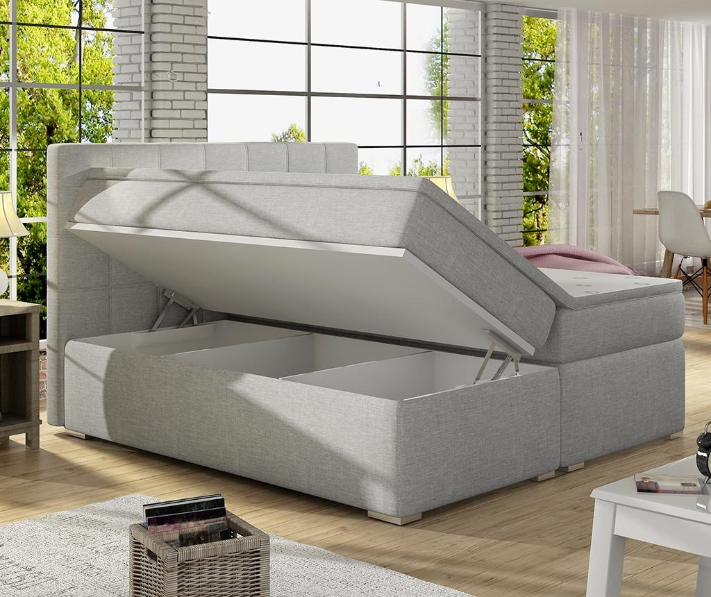 Boxspring krevet Alice Light Black 160x200 cm