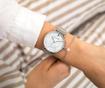 Set ženski ručni sat i narukvica Emily Westwood Sophie Glam Silver