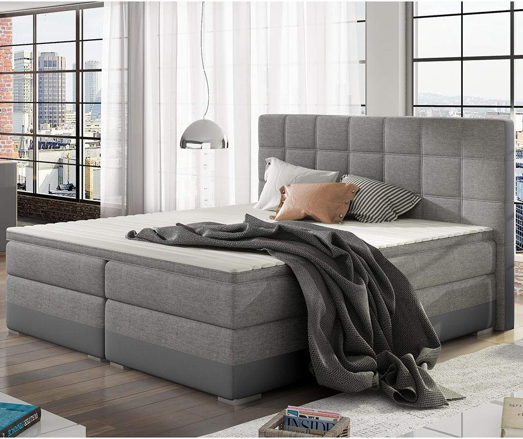 Boxspring krevet Damaso Grey Duo 160x200 cm