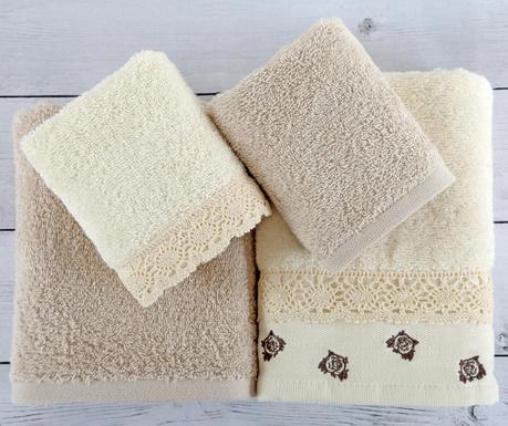 Σετ 4 πετσέτες μπάνιου Pretty Roses