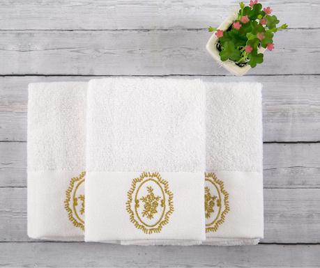 Sada 3 ručníků Celine White 30x50 cm