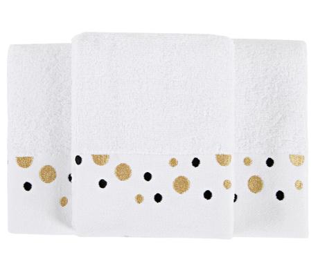Set 3 kopalniških brisač Luna White 30x50 cm