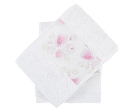Σετ 2 πετσέτες μπάνιου Almada Roses 50x90 cm