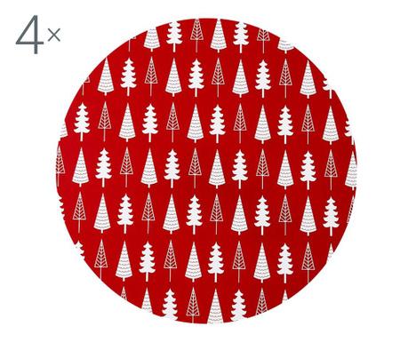 Zestaw 4 podkładek stołowych Noella Red 33 cm