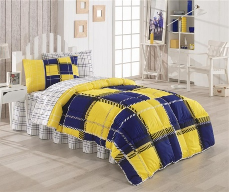 Posteljnina in odeja Single Ranforce Supreme Supporter Yellow and Blue