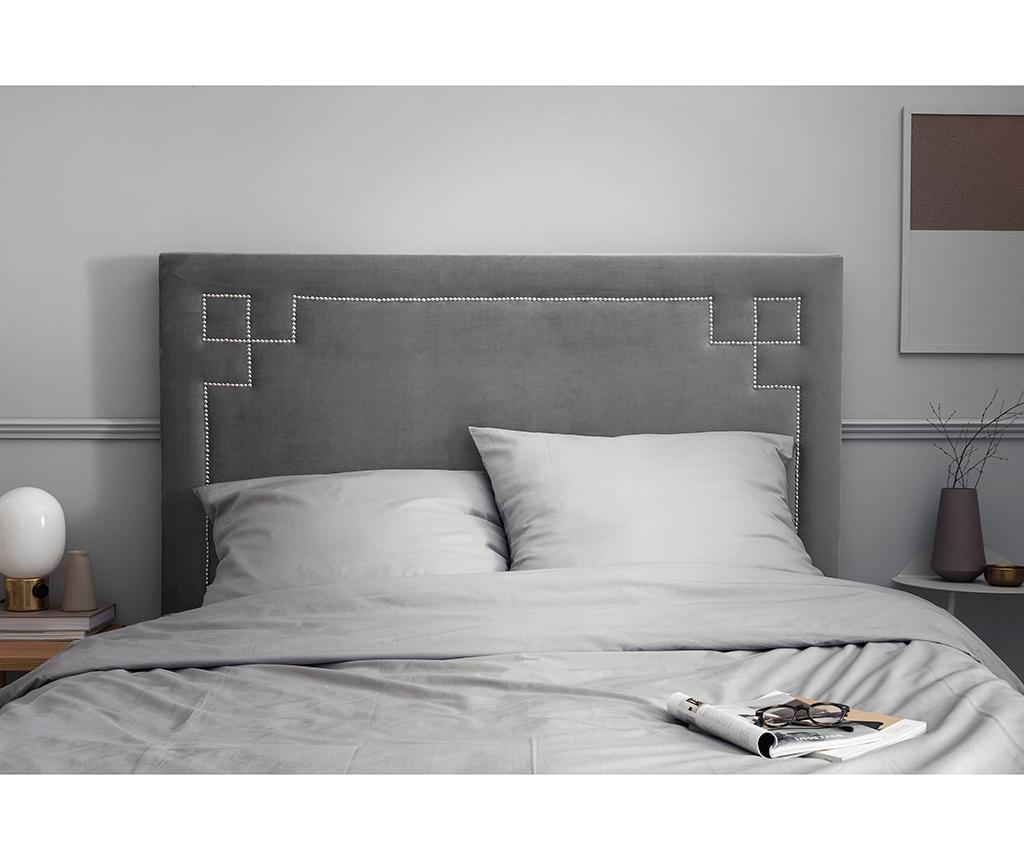 Tablie de pat Nicholas Light Grey Silver Pins 120x140 cm