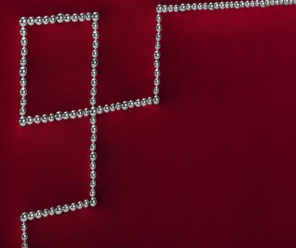 Tablie de pat Nicholas Red Silver Pins 120x200 cm