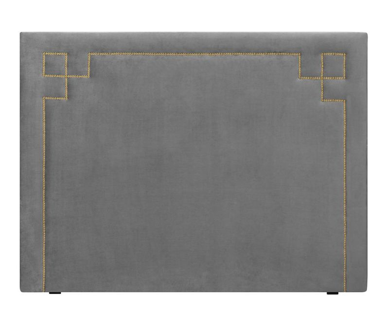 Tablie de pat Nicholas Light Grey Gold Pins 120x200 cm
