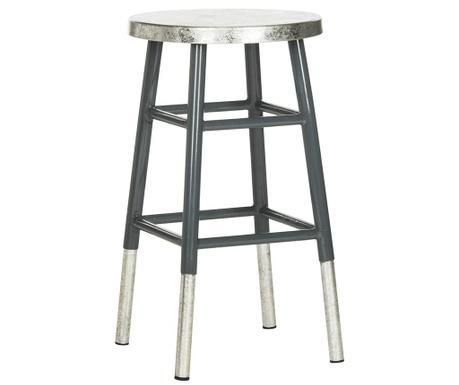 Barová stolička Lombardo Grey Silver